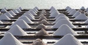 Salz wird in den Salinen von Janubio abgebaut